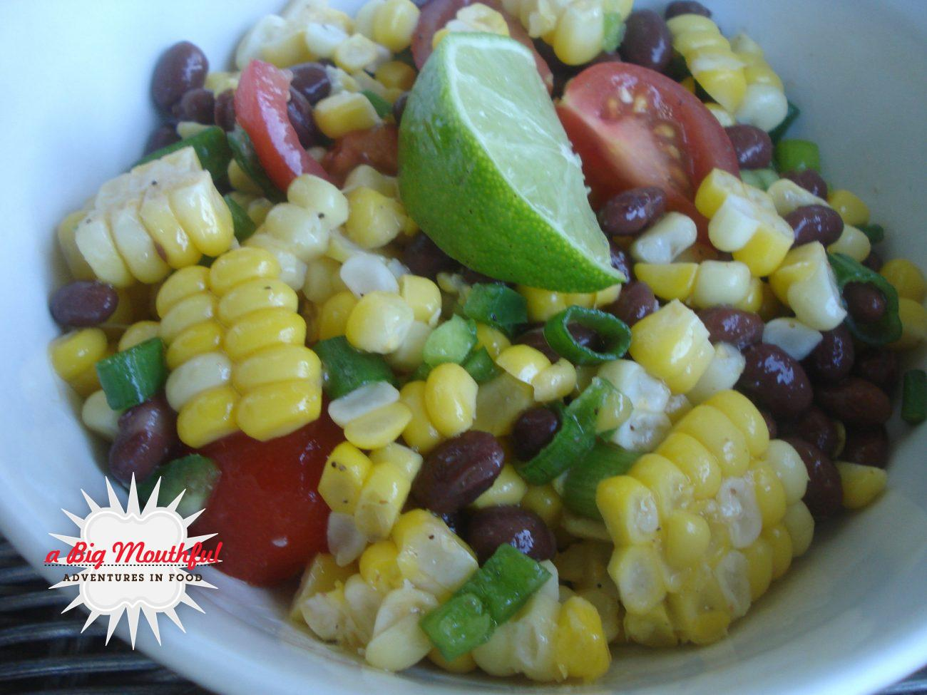 Fresh Corn Salad with Black Beans and Tomatoes