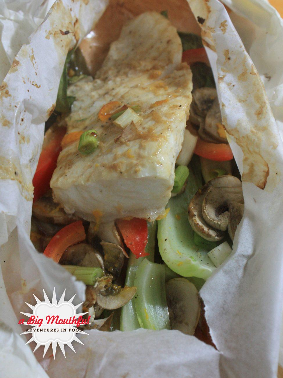 Asian-Style Halibut in Parchment