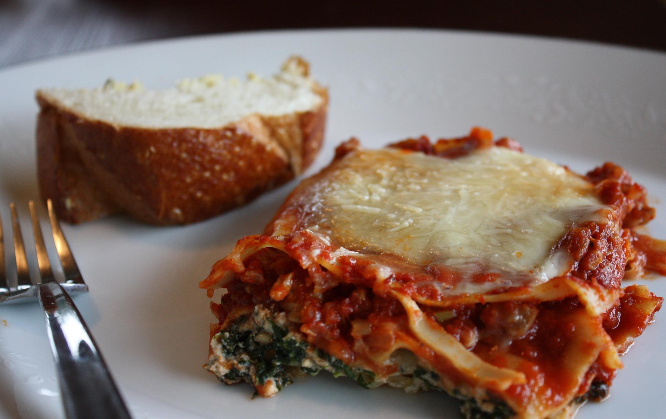 Italian Sausage Lasagna (No Boil Noodles)