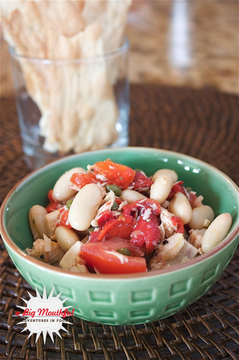 Big MouthfulLemony Tuna and White Bean Salad - A Big Mouthful