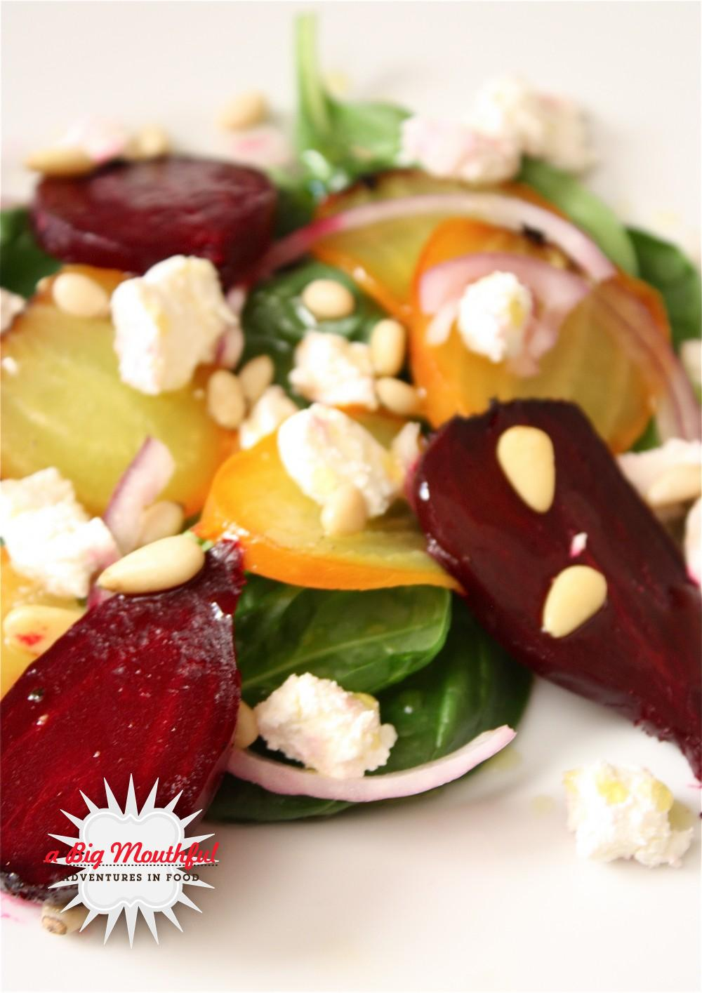 Big MouthfulBeet and Goat Cheese Salad - A Big Mouthful