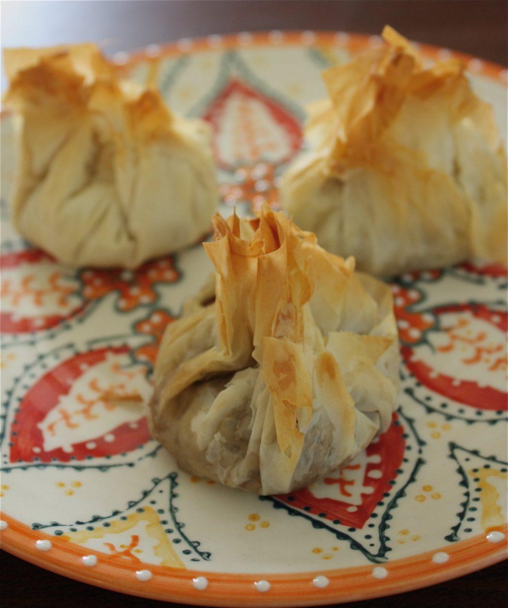 Mushroom Phyllo Pouches