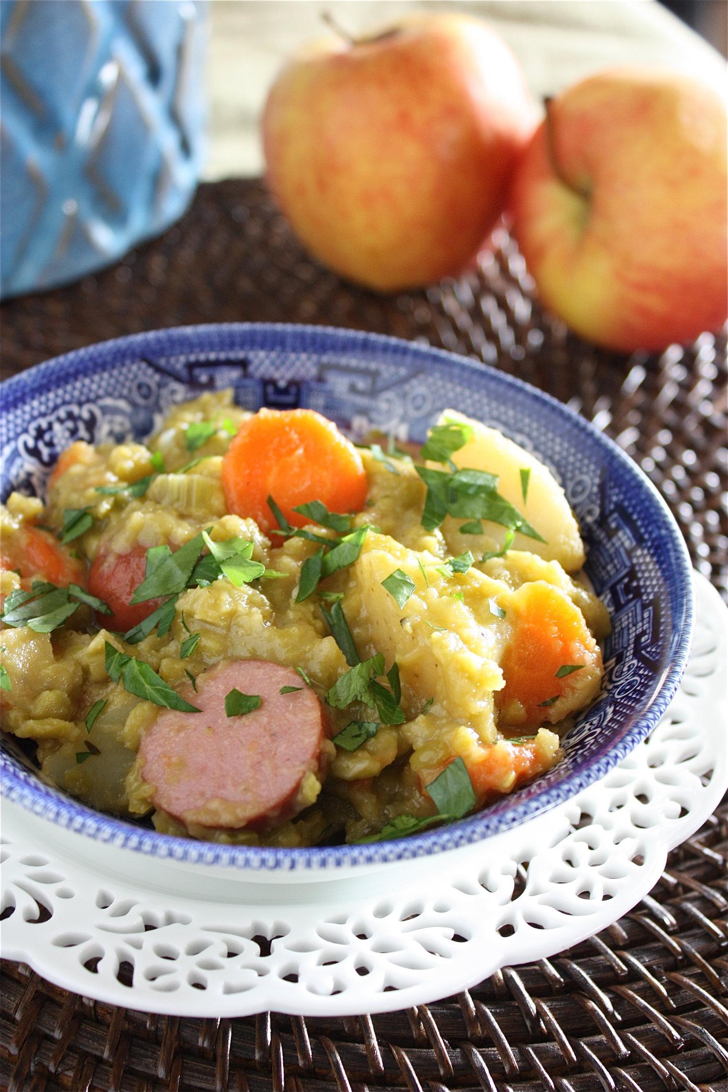 Split Pea and Turkey Kielbasa Soup