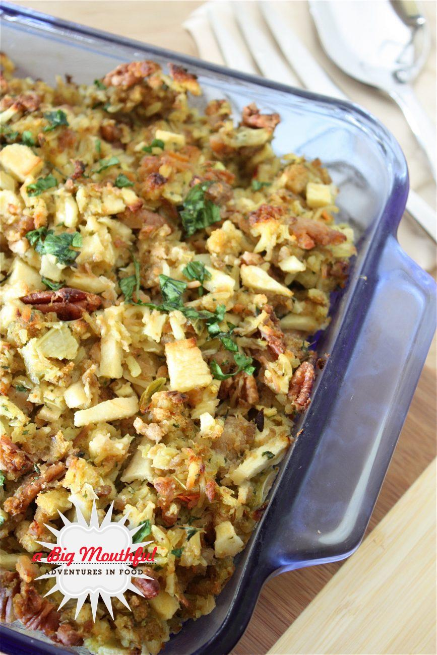 Mom's Sausage, Apple and Pecan Stuffing
