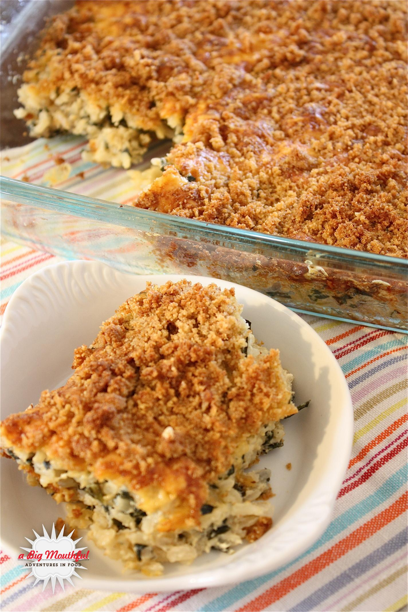 Kale and Brown Rice Gratin and a Review of Clearly Fresh Bags