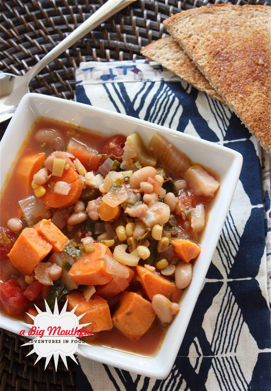 Root Vegetable Soup with Beans and Greens