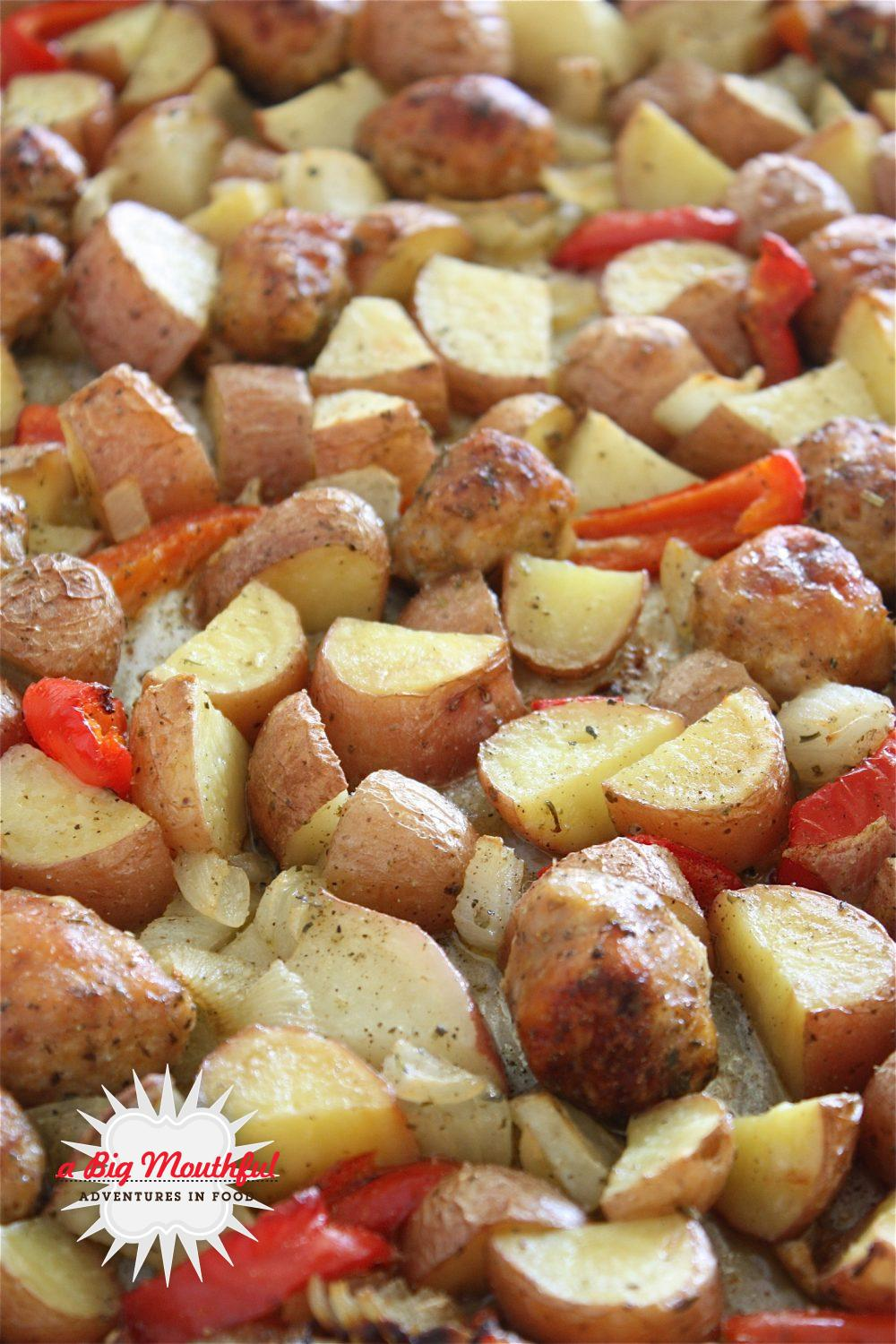 Big MouthfulSausage and Potato Breakfast Bake - A Big Mouthful