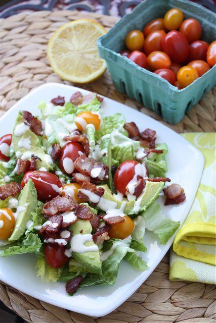 BLTA Salad with Lemony Buttermilk Ranch Dressing