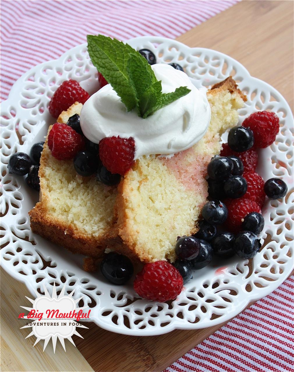 Dorie Greenspan's Perfection Pound Cake Topped with Summer Berries