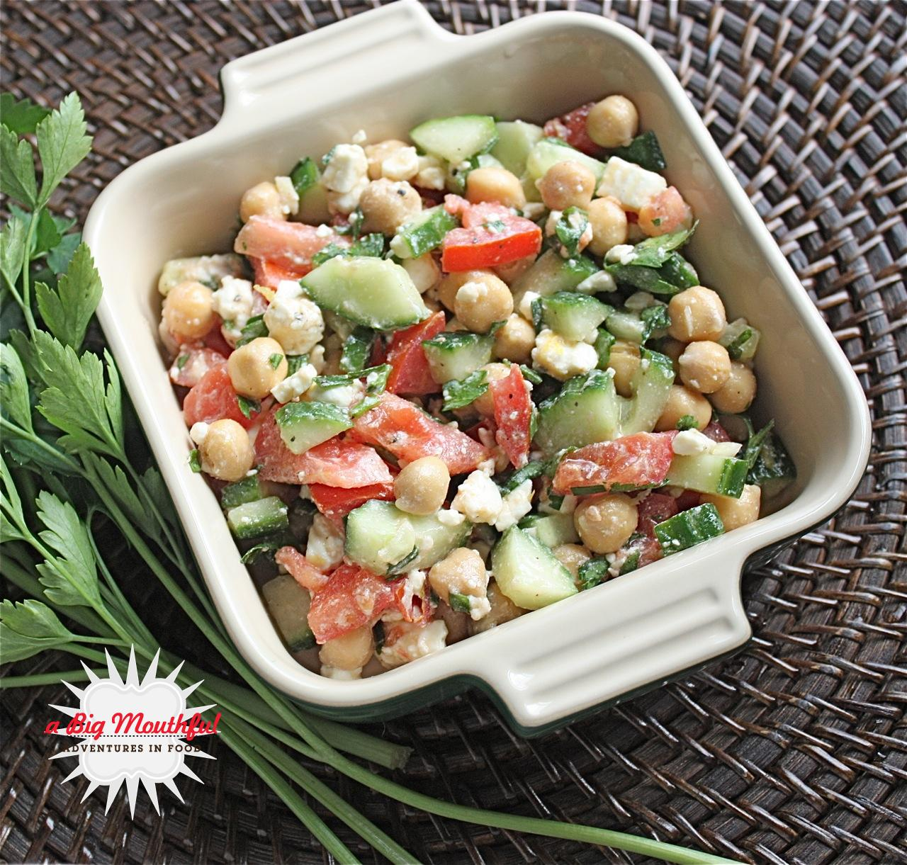 ... ve been up to + Mediterranean Chickpea Salad - A Big Mouthful